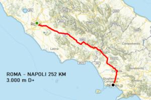 1^ tappa Roma - Napoli 252 km
