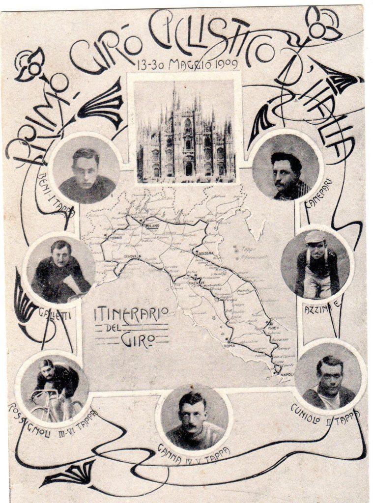1909 cartolina primo giro